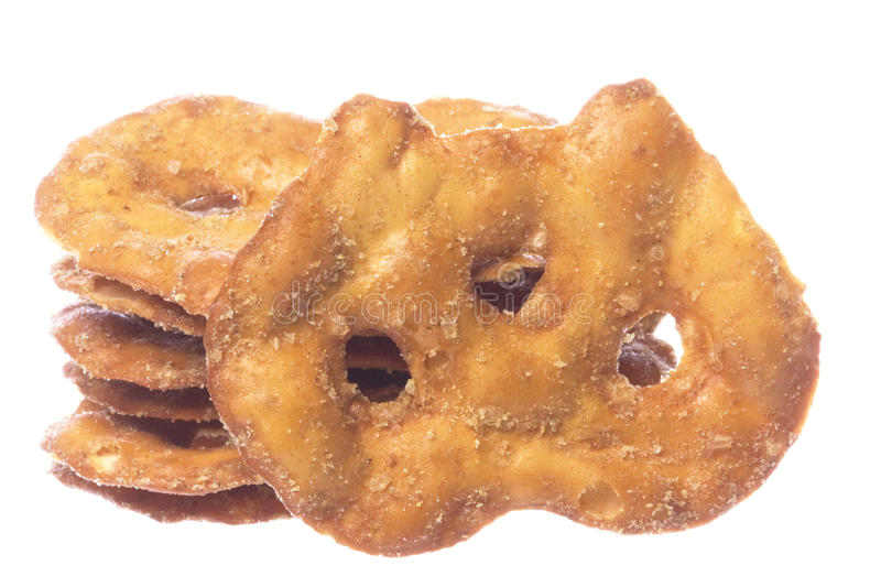 Pretzel Crackers Isolated. Isolated image of pretzel crackers stock image