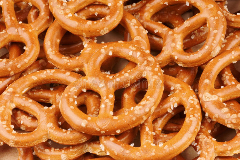 Pretzels background royalty free stock photography
