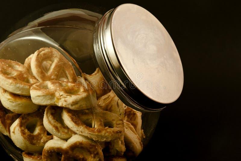 Download Pretzels in a jar stock photo. Image of dough, crispy - 17891108