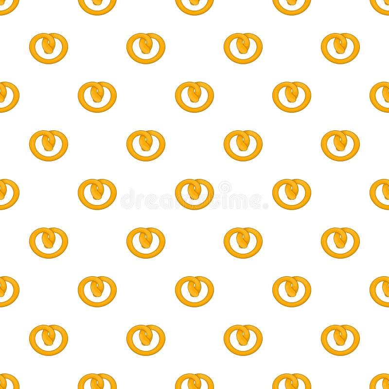 Pretzels pattern, cartoon style. Pretzels pattern. Cartoon illustration of pretzels vector pattern for web vector illustration