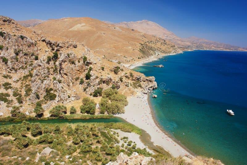 Preveli, Крит стоковое изображение rf