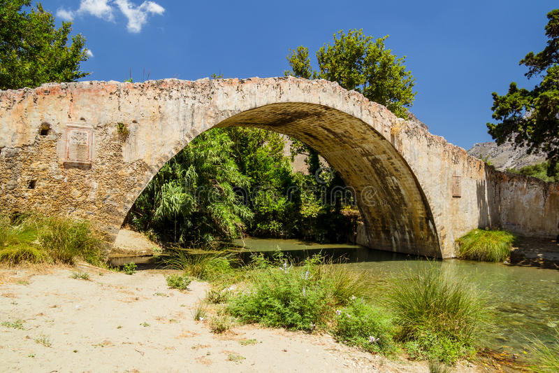 Preveli Venetian bridge royalty free stock photos