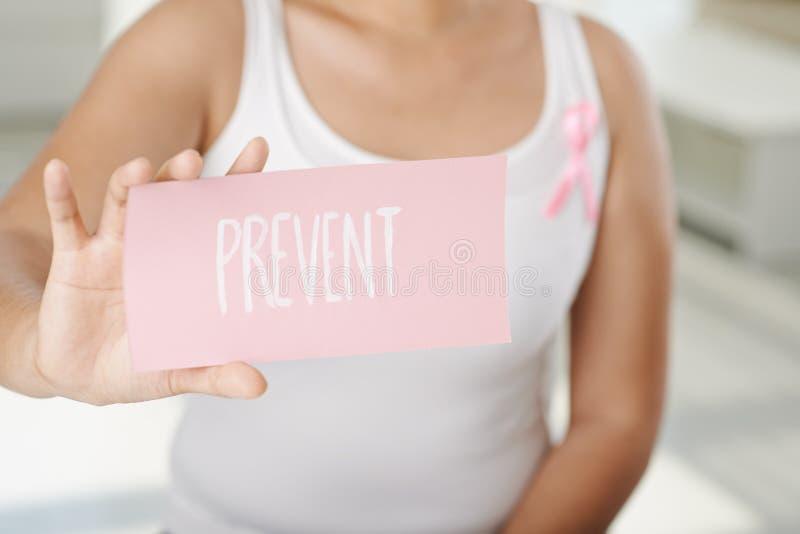 Prevenção de câncer da mama foto de stock royalty free