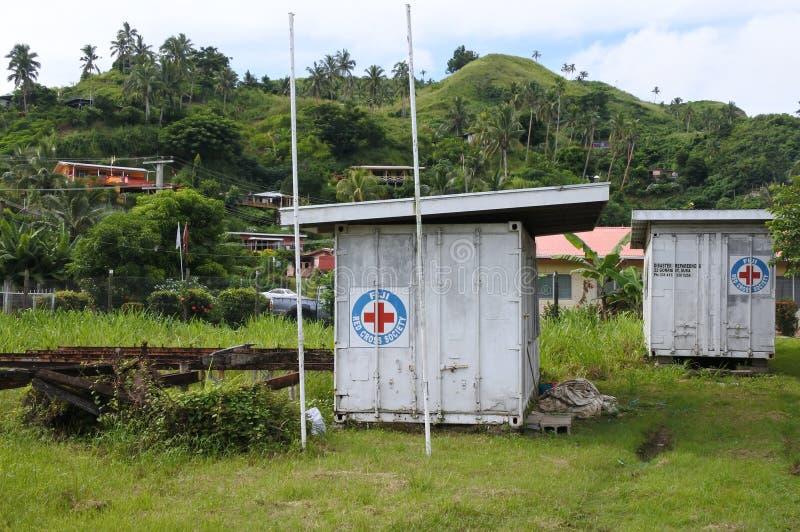 Prevenção de catástrofes da cruz vermelha de Fiji fotografia de stock