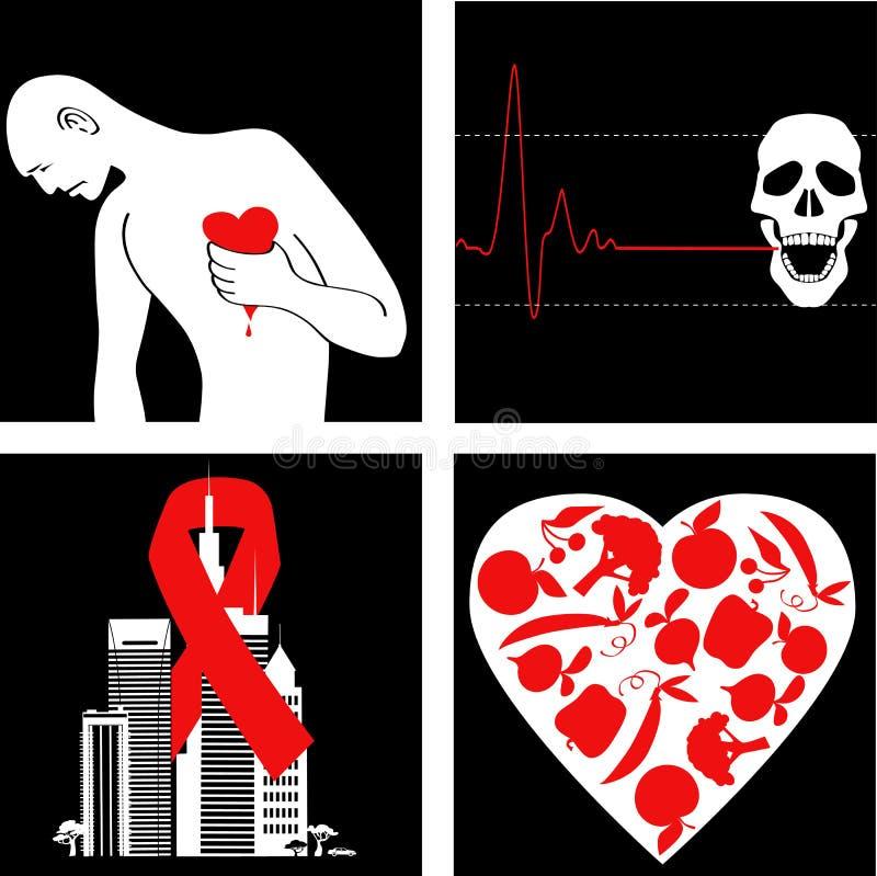 Prevenção do cardíaco de ataque ilustração royalty free