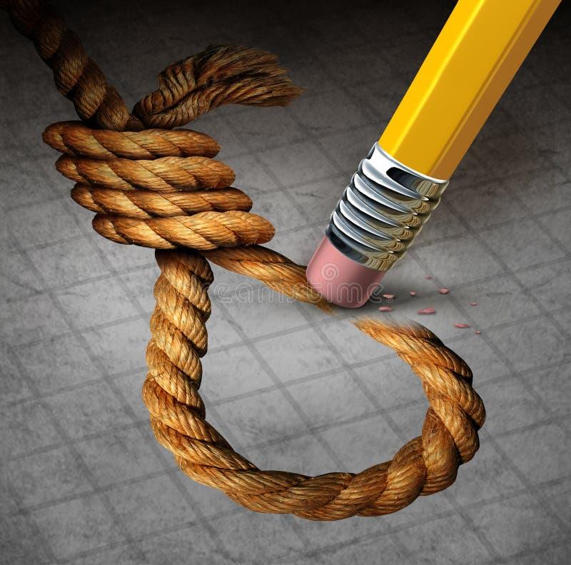 Prevenção do suicídio ilustração royalty free