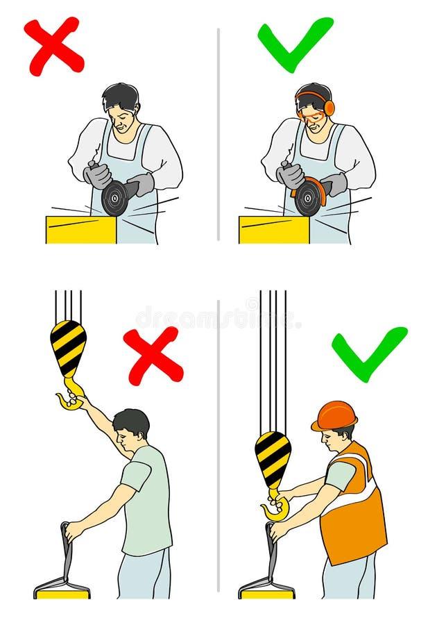 Prevenção dos acidentes ilustração stock