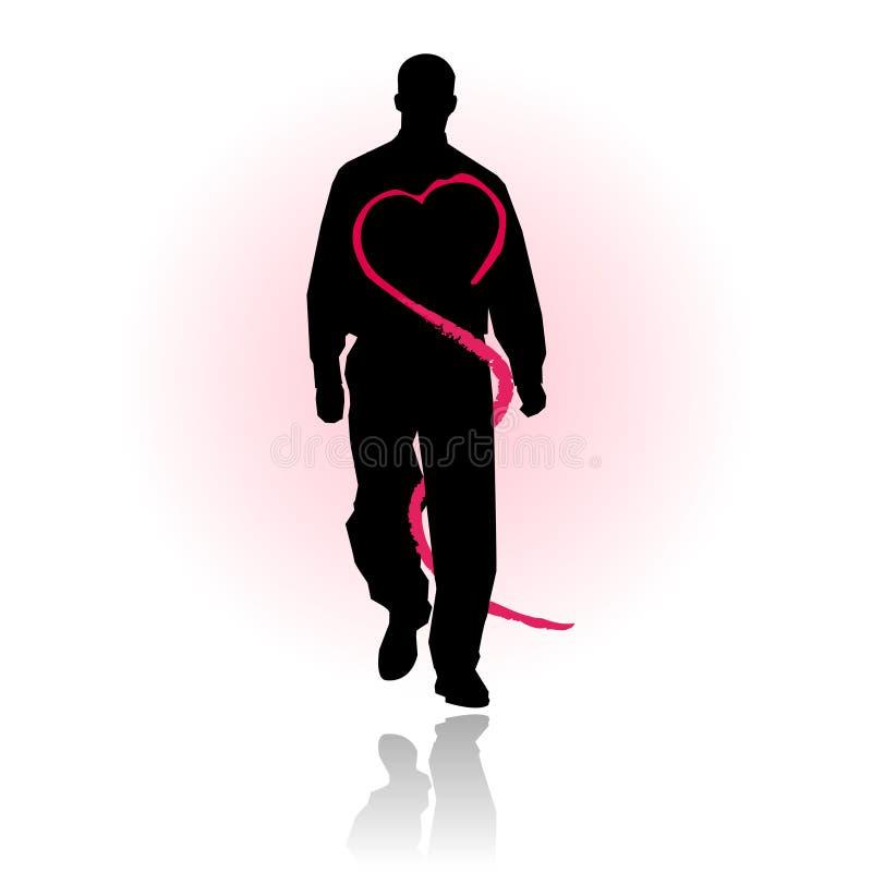 Prevenção dos cuidados médicos do amor ou do coração ilustração stock