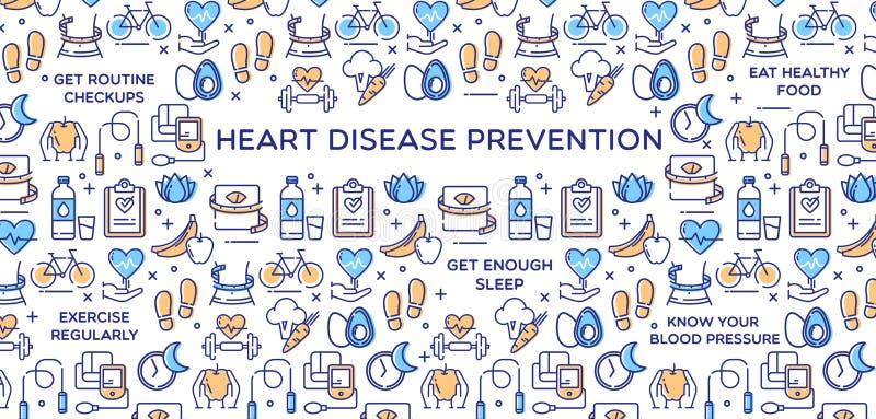 Prevención de la enfermedad cardíaca - ejemplo del vector ilustración del vector