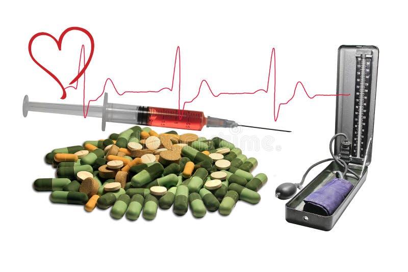 Prevención de la presión arterial fotos de archivo