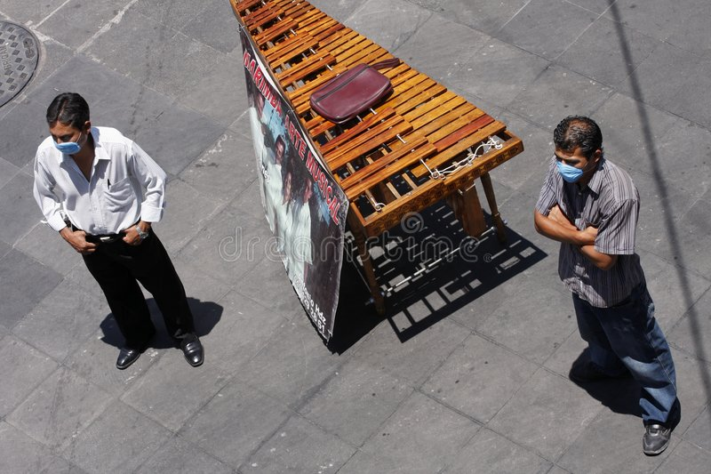 Prevención de swineflu en México imagen de archivo