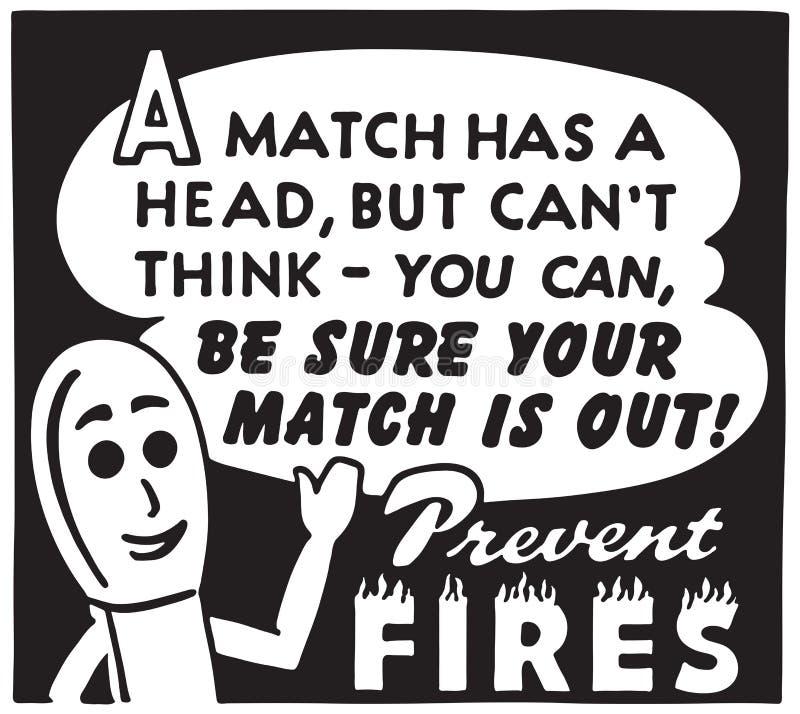 Prevent Fires. Retro Ad Art Banner stock illustration