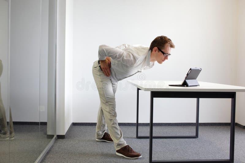 Preventie in het bureauwerk, oefeningen stock foto's