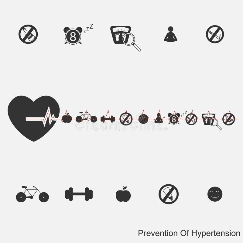 Preventie van hypertensie vector illustratie