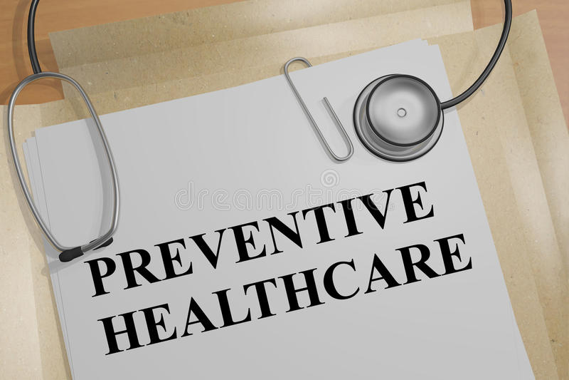 Preventive Healthcare - medical concept stock illustration