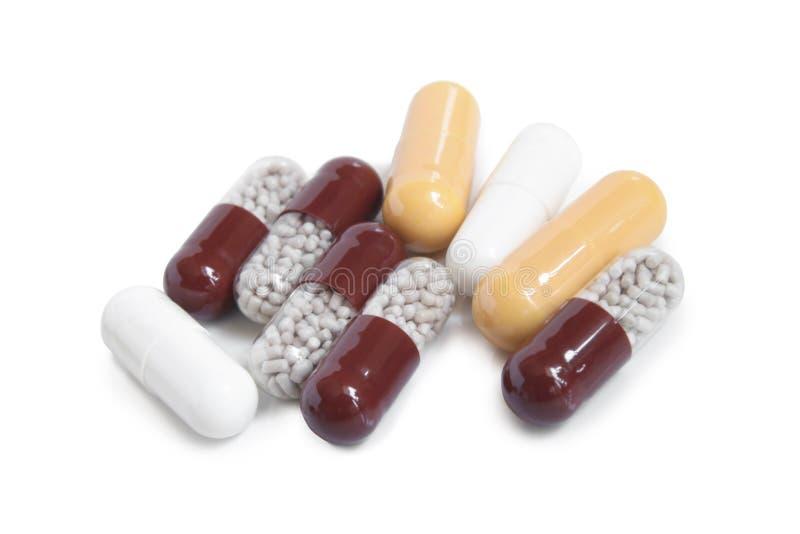 Preventivpillerkapslar arkivfoto
