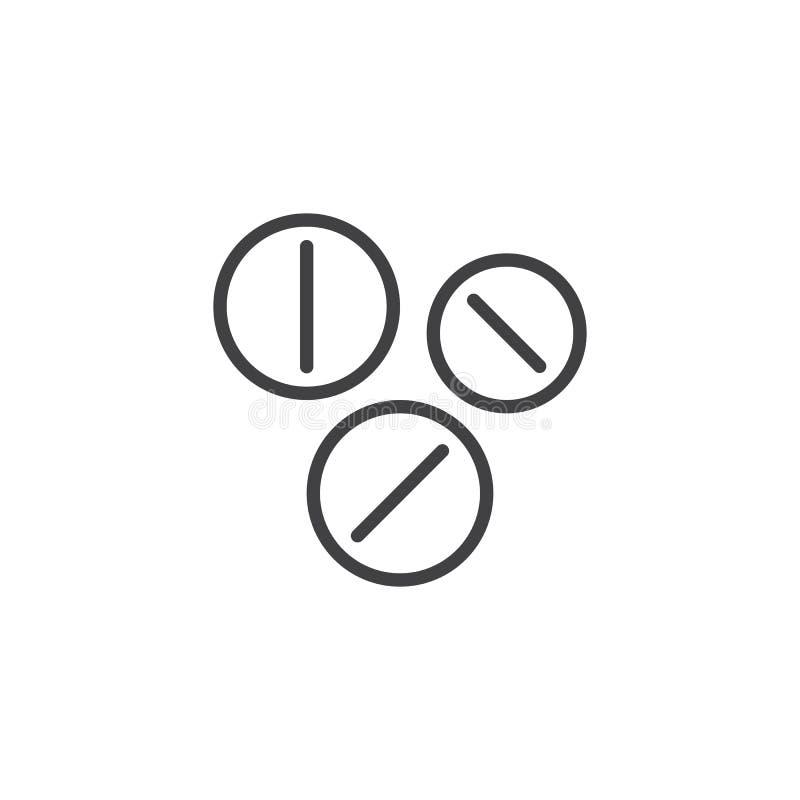 Preventivpillerlinje symbol stock illustrationer