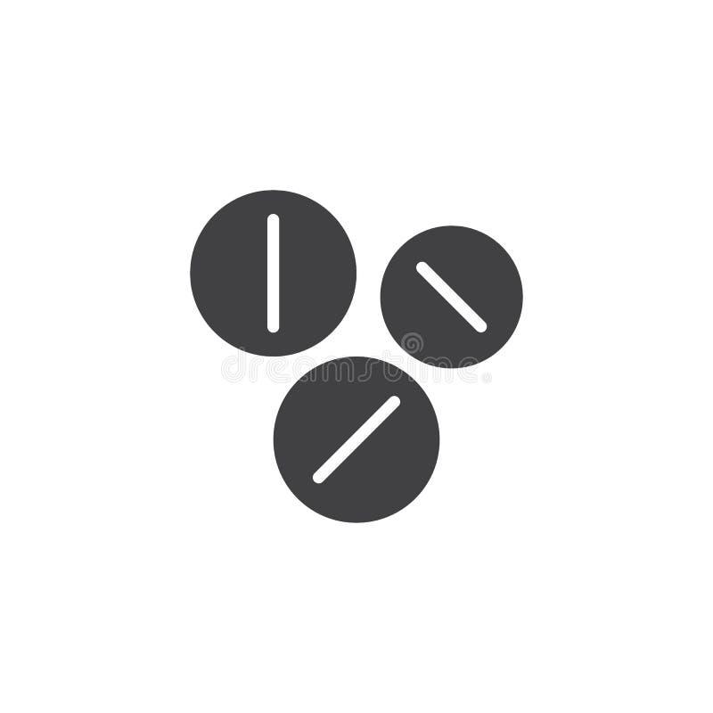 Preventivpillersymbolsvektor stock illustrationer
