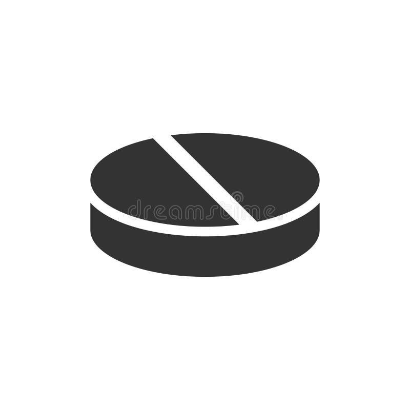 Preventivpillervektorsymbol i plan stil Minnestavlaillustration på vitiso stock illustrationer