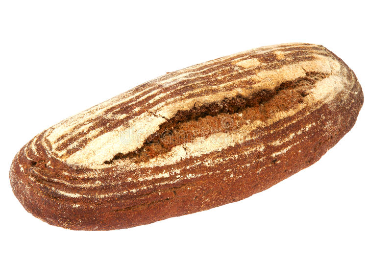 Preview Bread Loaf On White Background Stock Photo