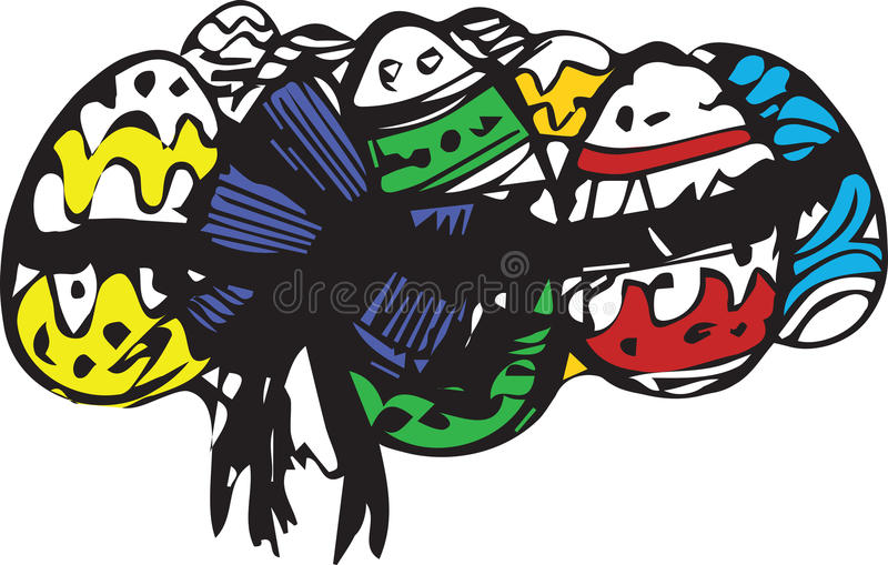 Download Preview Colorful Easter Eggs Associated Tape Stock Vector - Image: 36716330