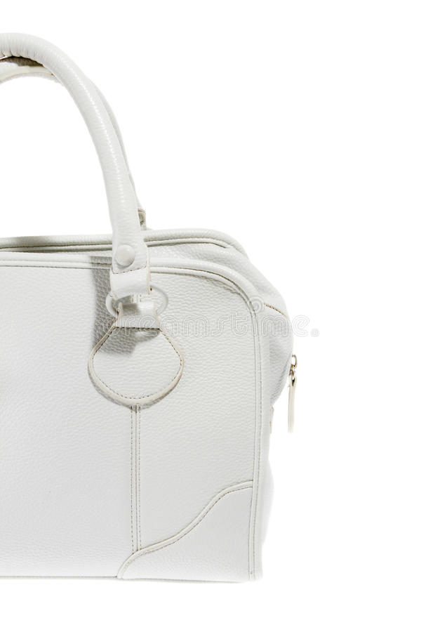 Preview ladies fashionable white leather handbag stock photos