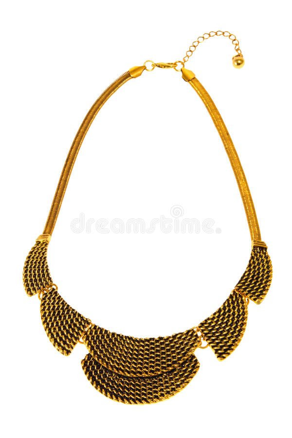 Preview Necklace Gold Jewelry Chain Weaving Women S Stock Photo