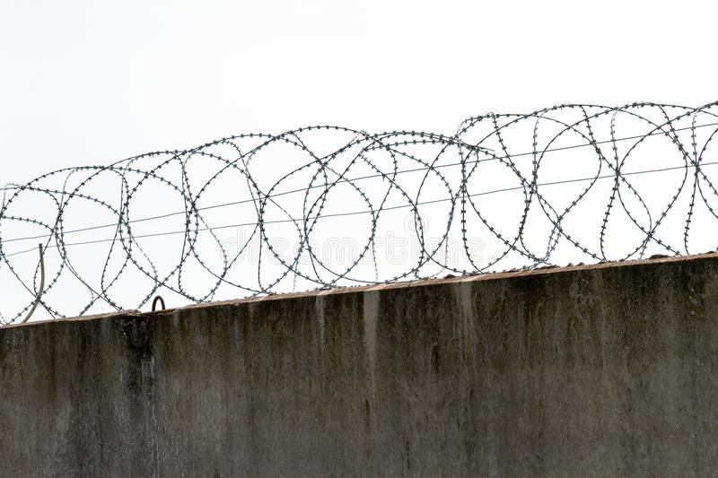 Download Preview Reinforced Concrete Fence With Barbed Fencing Stock Photo - Image: 39838160