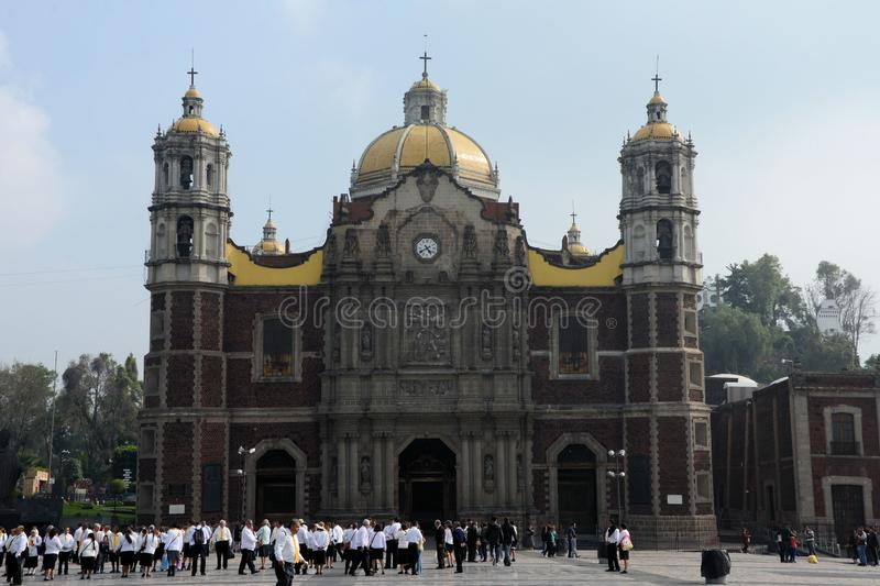 Previous Basilica of Guadalupe. Image of the previous Basilica of Guadalupe in Mexico City. Plaza Mariana royalty free stock photography