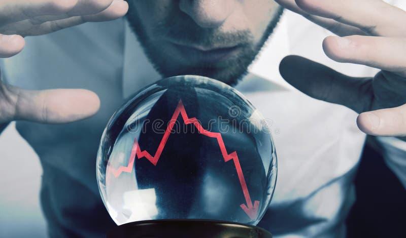 Previsões da crise financeira fotografia de stock