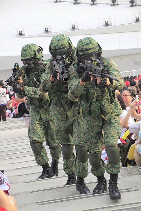 Previsione della parata di festa nazionale di Singapore fotografia stock libera da diritti