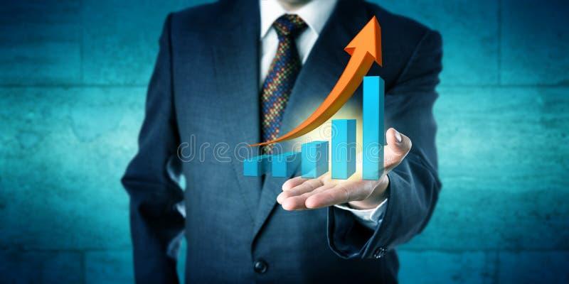 Previsione di tendenza di Offers Exponential Growth del responsabile fotografia stock