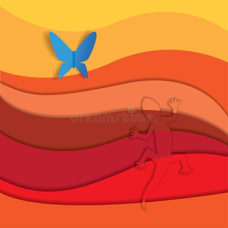 prey masai Кении mara охотника Африки иллюстрация штока