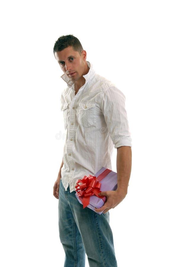 prezentów nośne człowieku zdjęcie stock