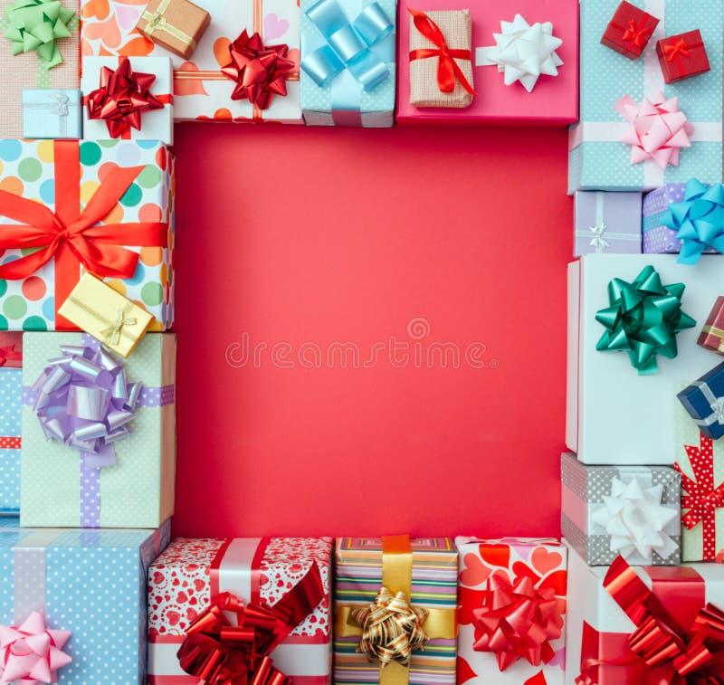 Prezentów pudełek rama obrazy stock