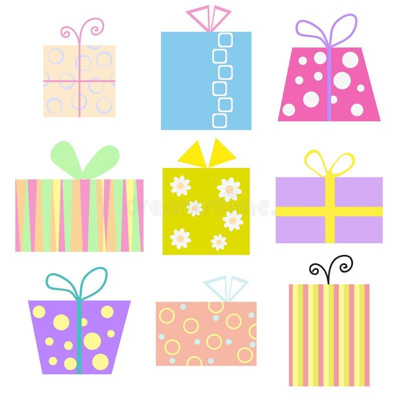 Prezentów pudełka royalty ilustracja