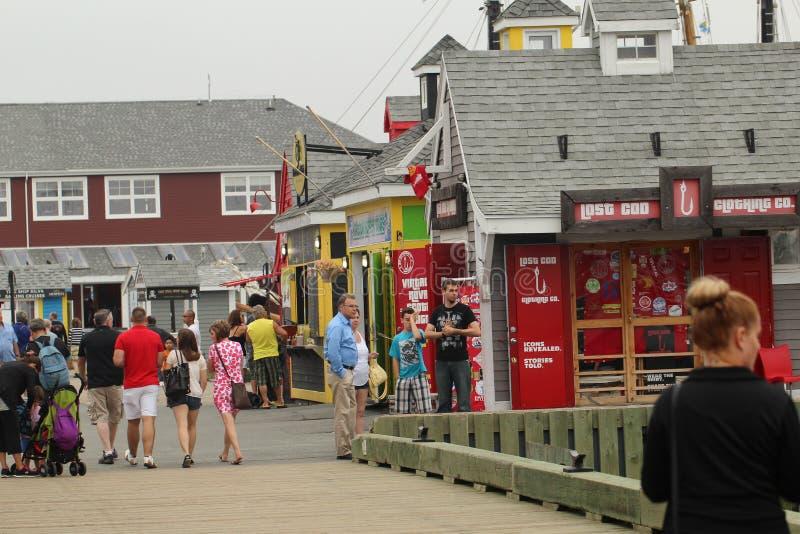 Prezentów sklepy na Halifax nabrzeżu zdjęcia stock