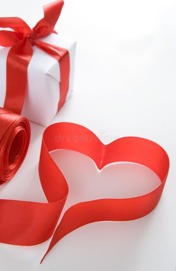 prezent czerwień kierowa następna obraz stock