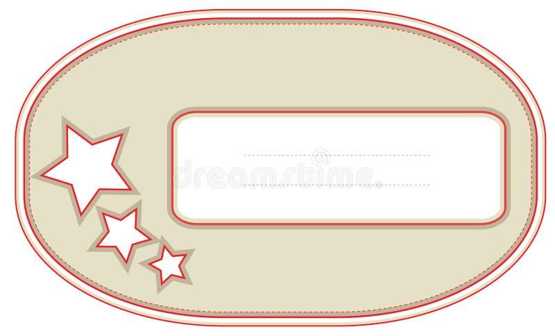 prezent etykietka zdjęcie stock