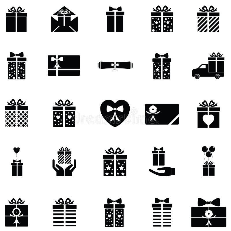Prezent ikony set ilustracji