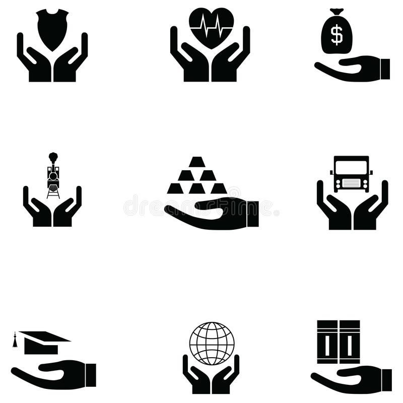 Prezent ikony set royalty ilustracja