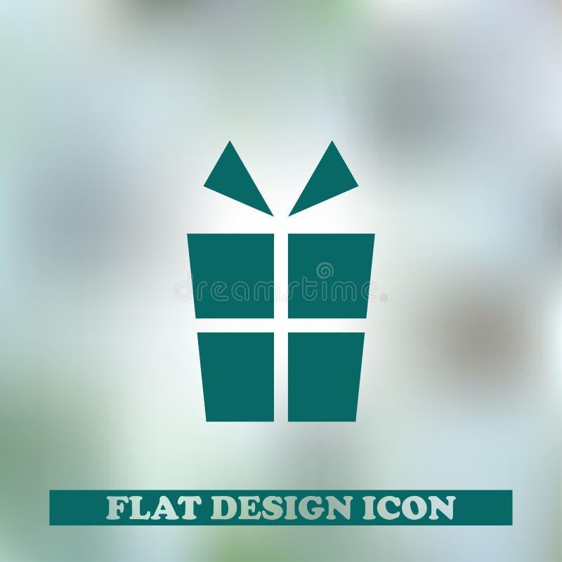 Prezent karty ikona Sieć projekt obraz stock
