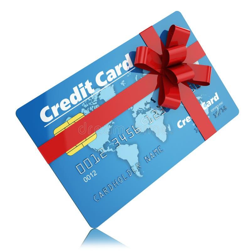 Prezent kredytowa karta ilustracja wektor