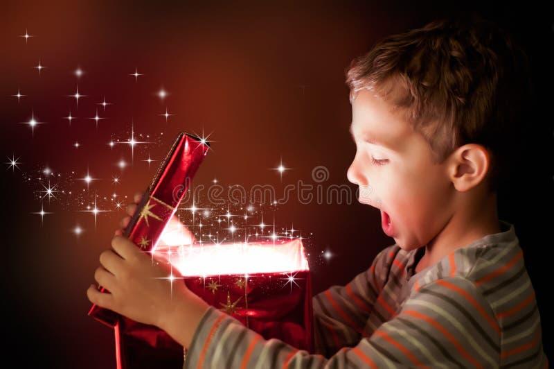 prezent magia zdjęcie stock