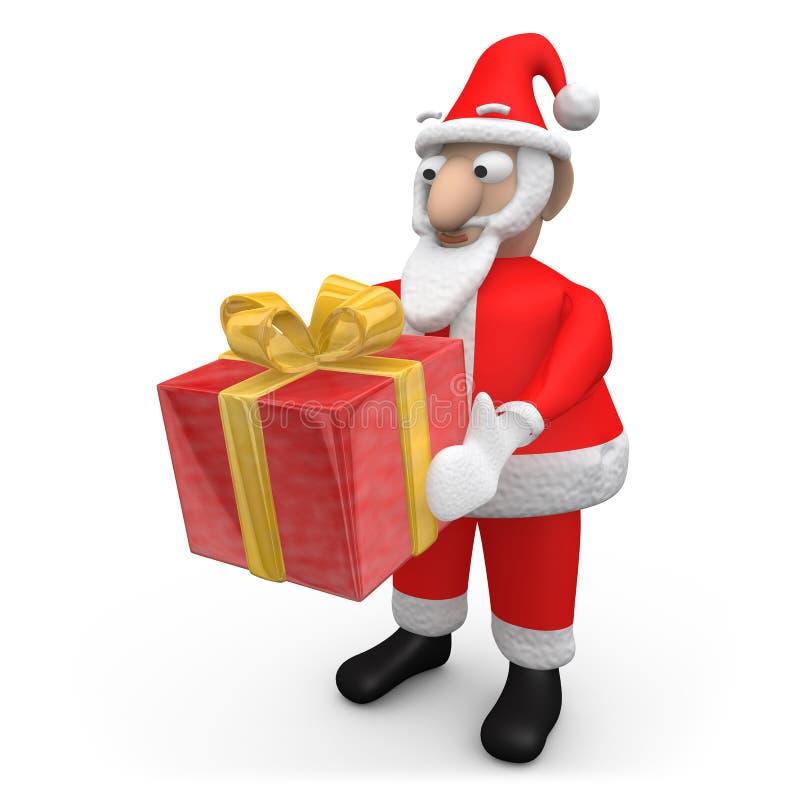 prezent ofiara Santa ilustracja wektor