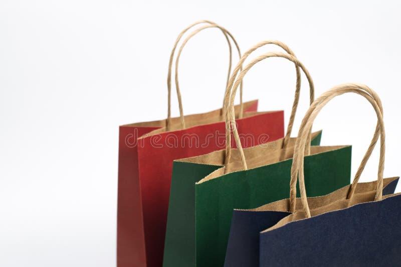Prezent papierowe torby obrazy stock
