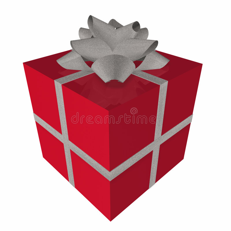 prezent pudełkowata czerwone. ilustracja wektor