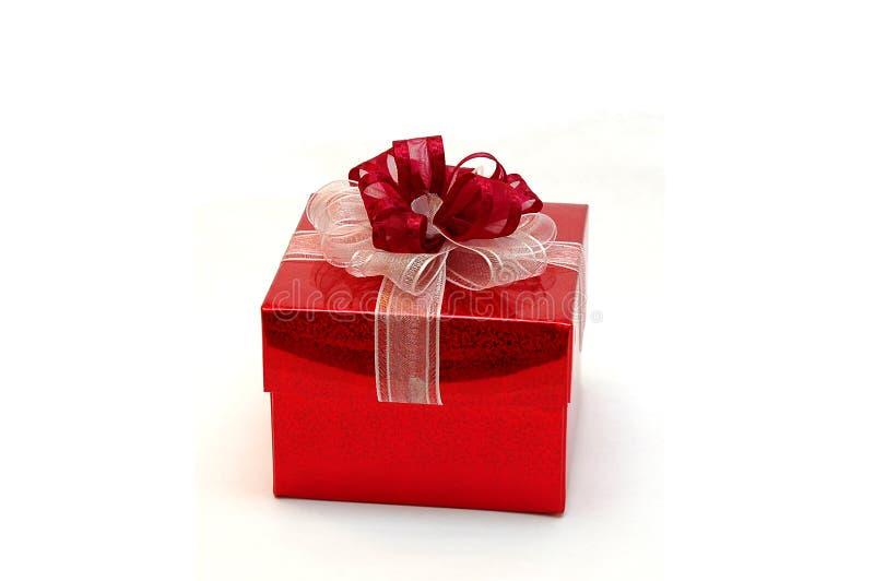prezent pudełkowata czerwone. zdjęcia royalty free