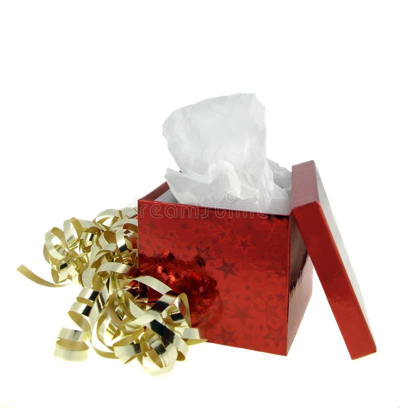 prezent pudełkowata czerwone. fotografia royalty free