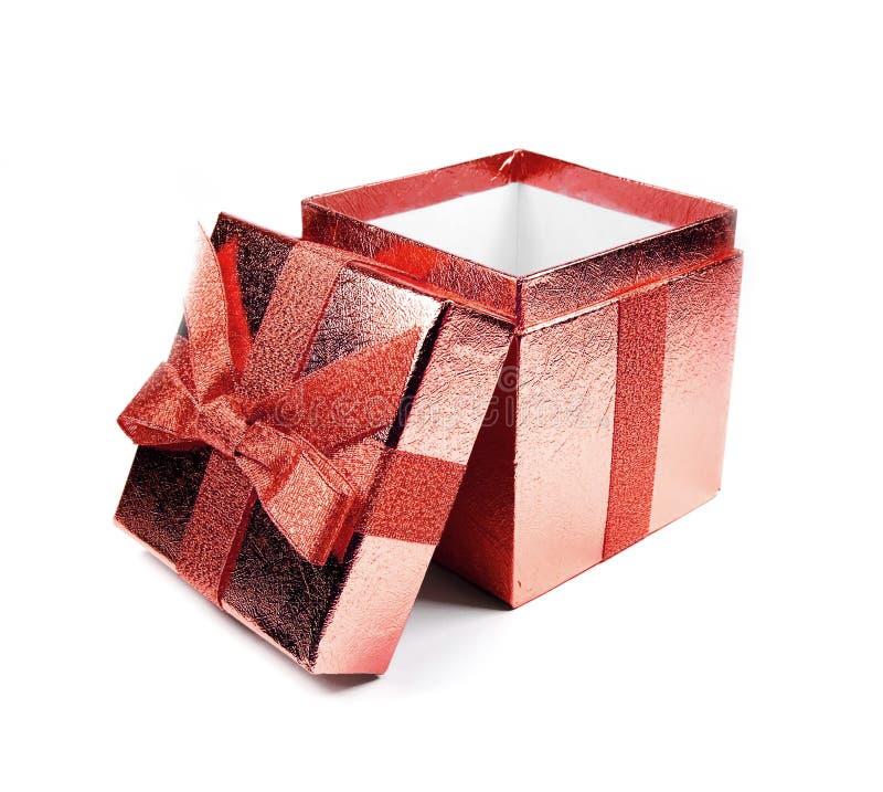 prezent pudełkowata czerwone. obrazy royalty free